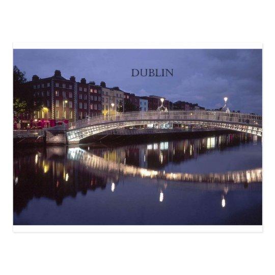 Ireland Dublin Bridge night (St.K) Postcard
