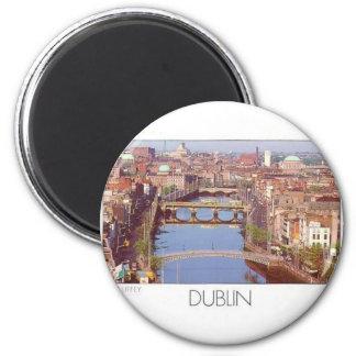 Ireland Dublin River Liffey (St.K.) 6 Cm Round Magnet