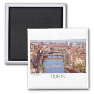 Ireland Dublin River Liffey (St.K.) Square Magnet