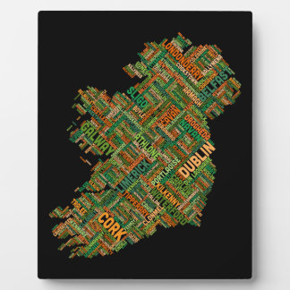 Ireland Eire City Text map Plaques