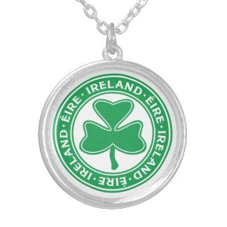 Ireland Éire Gaelic Shamrock Symbol Silver Plated Necklace