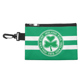 Ireland Éire Shamrock Green and White Accessory Bags