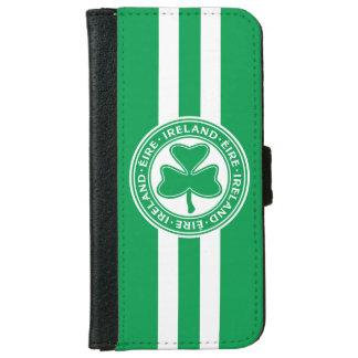 Ireland Éire Shamrock Green and White iPhone 6 Wallet Case