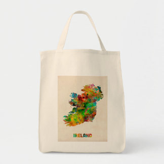 Ireland Eire Watercolor Map Tote Bag