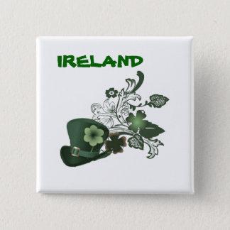 Ireland Elegant Shamrock Hat 15 Cm Square Badge