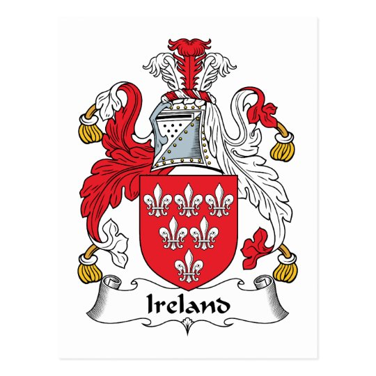 Ireland Family Crest Postcard