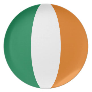 Ireland Fisheye Flag Plate