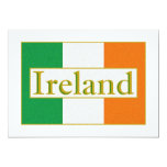 Ireland Flag 13 Cm X 18 Cm Invitation Card