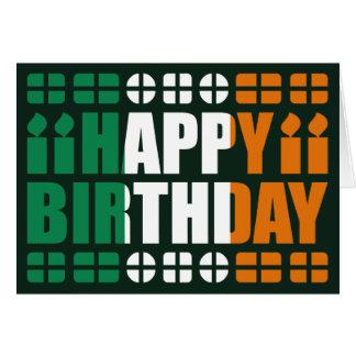 Ireland Flag Birthday Card