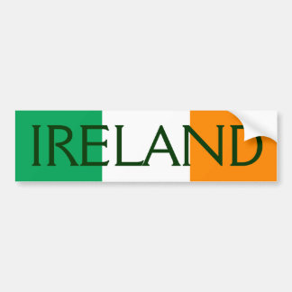 ireland flag bumper sticker