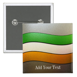 Ireland Flag Colors-Chrome by Shirley Taylor 15 Cm Square Badge