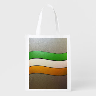 Ireland Flag Colors-Chrome Grocery Bag