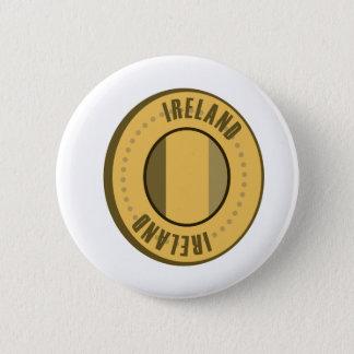 Ireland Flag Gold Coin 6 Cm Round Badge