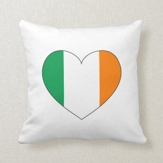 Ireland Flag Heart Cushion