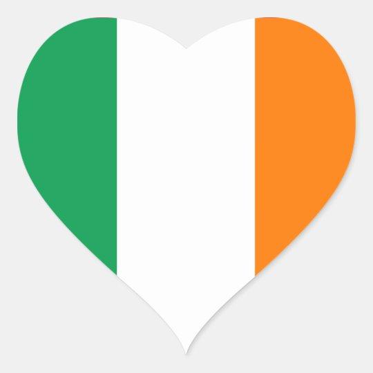 Ireland Flag Heart Sticker