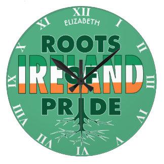 Ireland Flag Irish Pride Roots Of Pride Proud Clock
