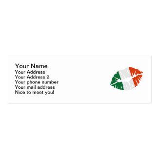 Ireland flag kiss business card template