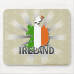 Ireland Flag Map 2.0 Mouse Pad