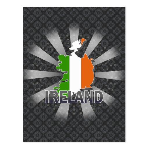 Ireland Flag Map 2.0 Postcard