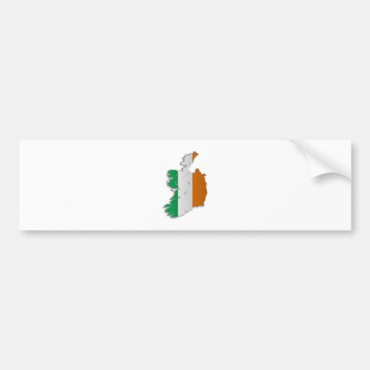 Ireland Flag Map Bumper Sticker
