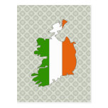 Ireland Flag Map full size Post Card