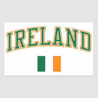 Ireland + Flag Rectangular Sticker