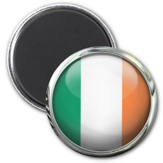 Ireland Flag Round Glass Ball 6 Cm Round Magnet