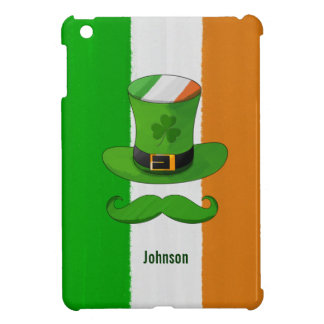 Ireland Flag & Shamrock Leprechaun Hat Mustache Case For The iPad Mini
