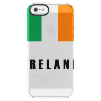 Ireland Flag Simple Dark Clear iPhone SE/5/5s Case