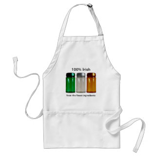 Ireland Flag Spice Jars Apron