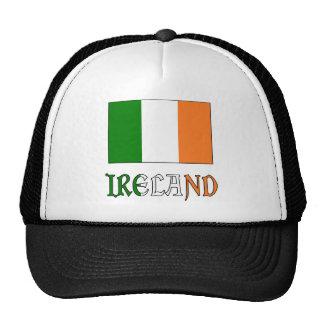 Ireland Flag & Word Mesh Hats