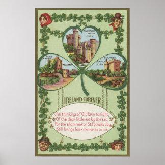 Ireland Forever - Cork and Killarney Castles Poster