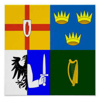 Ireland Four provinces Poster