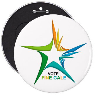 Ireland General Election for Colossal-Round-Badge 6 Cm Round Badge