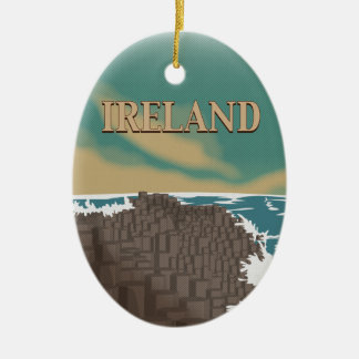 Ireland Giants Causeway Travel Poster Christmas Ornament