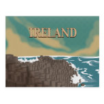 Ireland Giants Causeway Travel Poster Post Card