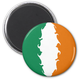 Ireland Gnarly Flag 6 Cm Round Magnet
