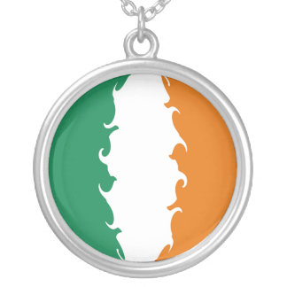 Ireland Gnarly Flag Round Pendant Necklace