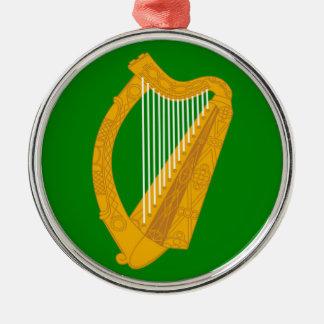 ireland green harp flag irish christmas ornament