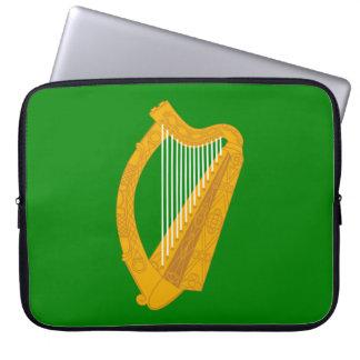ireland green harp flag irish laptop sleeve