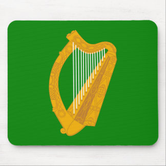 ireland green harp flag irish mouse mat