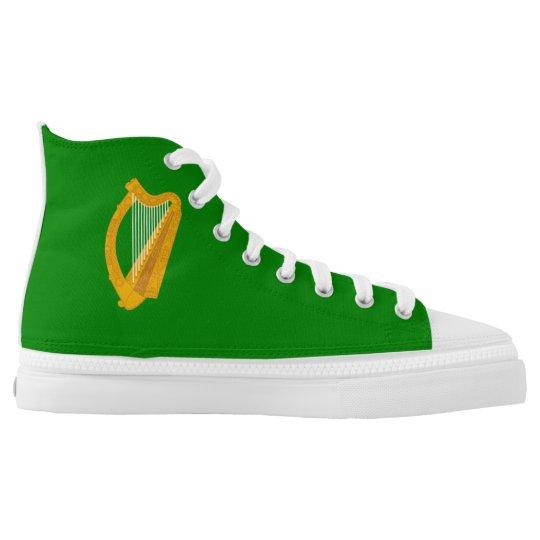 ireland green harp flag irish printed shoes
