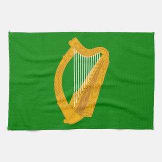 ireland green harp flag irish tea towel