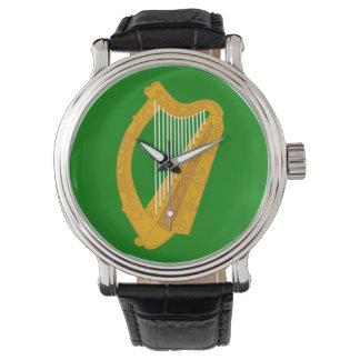 ireland green harp flag irish watch
