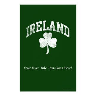 Ireland, Grunge Varsity Style Flyers