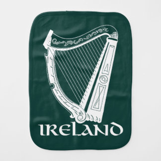 Ireland Harp Design, Irish Harp Burp Cloth