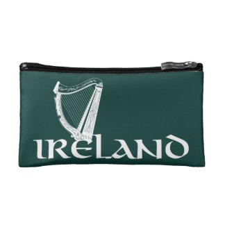 Ireland Harp Design, Irish Harp Cosmetic Bag
