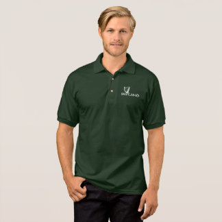 Ireland Harp Design, Irish Harp Polo Shirt