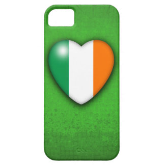 Ireland Heart Flag on Green Grunge background iPhone 5 Cover