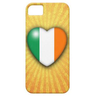 Ireland Heart Flag on Sunburst background Case For The iPhone 5